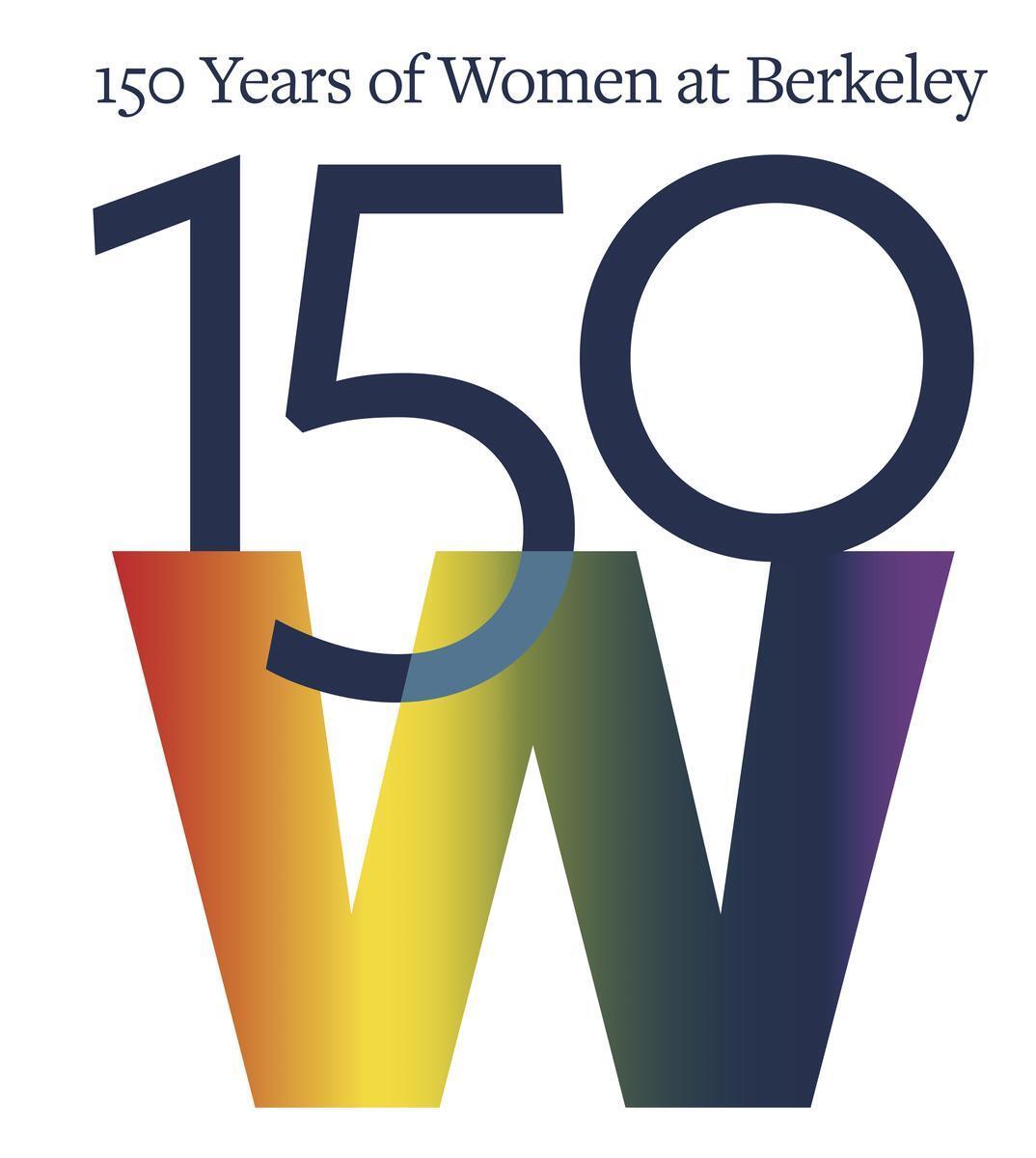 Rainbow 150 Years of Women at Berkeley logo