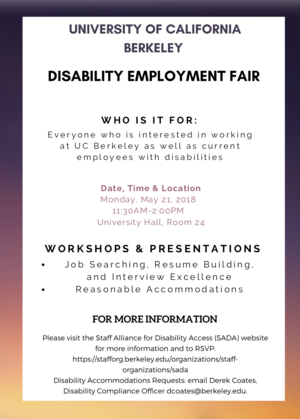 Disability job fair flyer
